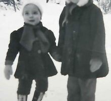 My Brother and Me...60 some years ago by MaeBelle