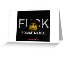 Mr Robot Promo - Lego Parody Greeting Card