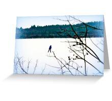 Skating Alone Greeting Card