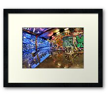 Graffiti Art Reflected Framed Print