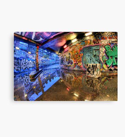 Graffiti Art Reflected Canvas Print