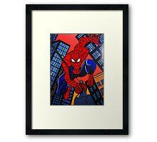 SUPER HEROS   SPIDERMAN Framed Print