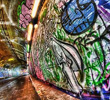 Graffiti tunnel, London Waterloo by Guy Carpenter