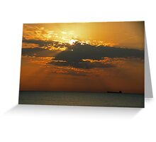 Morning Freighter Greeting Card
