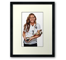 Christie Rampone - World Cup Framed Print