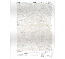 USGS Topo Map Oregon Staley Ridge 20110722 TM Poster