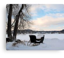 Winter Sleigh Canvas Print