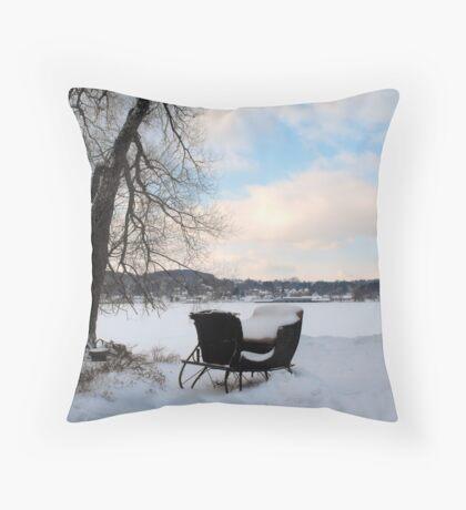 Winter Sleigh Throw Pillow