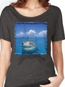 Great White Shark on The Ocean Women's Relaxed Fit T-Shirt