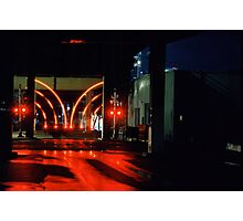 Train Signal Photographic Print