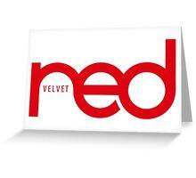 RED VELVET THE RED Greeting Card