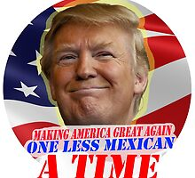 Trump One Less Mexican a Time by shawq