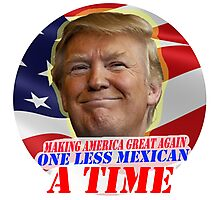 Trump One Less Mexican a Time Photographic Print