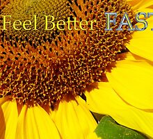 sunflower 'feel better fast' card by dedmanshootn