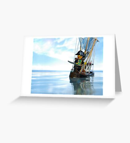 Pirate of the Bathtub Greeting Card