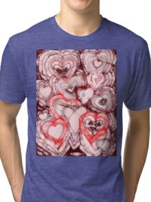 Heart shades Tri-blend T-Shirt
