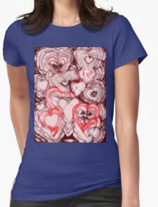 Heart shades Womens Fitted T-Shirt