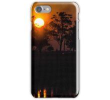 Sunset in the Ibera iPhone Case/Skin