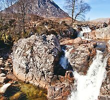 Stob Dearg with Waterfalls by Stuart Blance