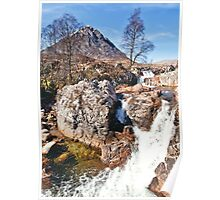 Stob Dearg with Waterfalls Poster