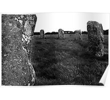 Stone circle in Cornwall Poster