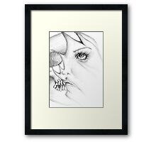 Stretching reality Framed Print