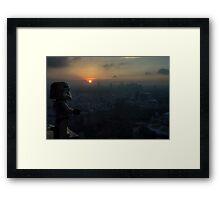 Lego Stormtrooper X Sunset in Roppongi Framed Print
