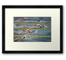 Tight competition Framed Print