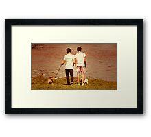 Simon and Shane Framed Print