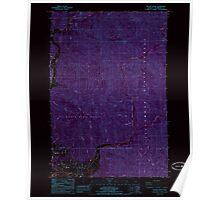 USGS Topo Map Oregon Kilchis River 280404 1985 24000 Inverted Poster