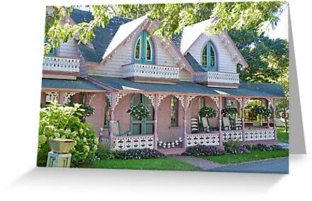 GingerBread Houses, Oak Bluffs,  by AnnDixon
