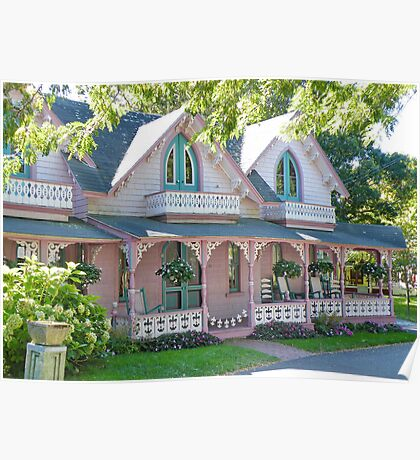 GingerBread Houses, Oak Bluffs,  Poster