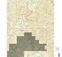 USGS Topo Map Oregon Groundhog Mountain 280110 1997 24000 by wetdryvac