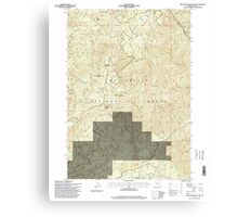 USGS Topo Map Oregon Groundhog Mountain 280110 1997 24000 Canvas Print