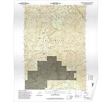 USGS Topo Map Oregon Groundhog Mountain 280110 1997 24000 Poster