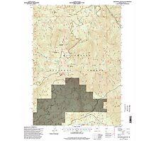 USGS Topo Map Oregon Groundhog Mountain 280110 1997 24000 Photographic Print