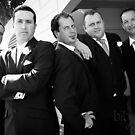 Luke and his groomsmen by Rebecca  Nicolandos