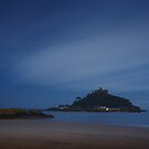 St Michaels Mnt by night by Paul Whittingham