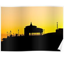 Eastbourne Bandstand Silhouette Poster