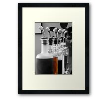 bottles of flavor Framed Print
