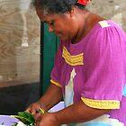 Making Flower Headbands in Raiatea by Laurel Talabere