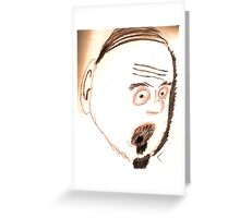 crazy right hand man Greeting Card