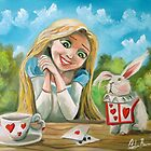 Alice in wonderland the white rabbit oil painting by gordonbruce