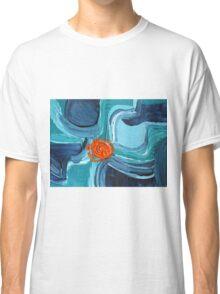 Abstract Blue & Orange Design  Classic T-Shirt