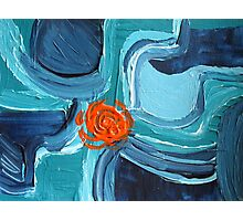 Abstract Blue & Orange Design  Photographic Print