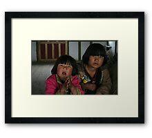 Bhutanese children Framed Print