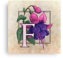 F is for Fuchsia Canvas Print