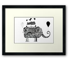 Panda. Love. Elephant travel Framed Print