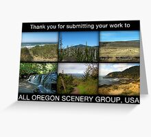 All Oregon Scenery Group ..... challenge entry Greeting Card