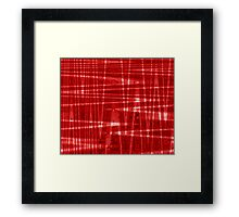 QUANTUM FIELDS ABSTRACT [1] RED [1] Framed Print